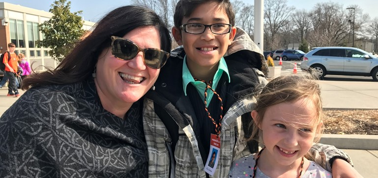 Madalyn Massari from Miss Kelly's 1st grade class and Eric Green from Mrs. Sendlock's 4th grade class were both principal of the day today.  They were the winners in our Family Reading Month in February.  They enjoyed lunch with the principal, visited many classrooms, and observed some classrooms.  Thank you for all your help!