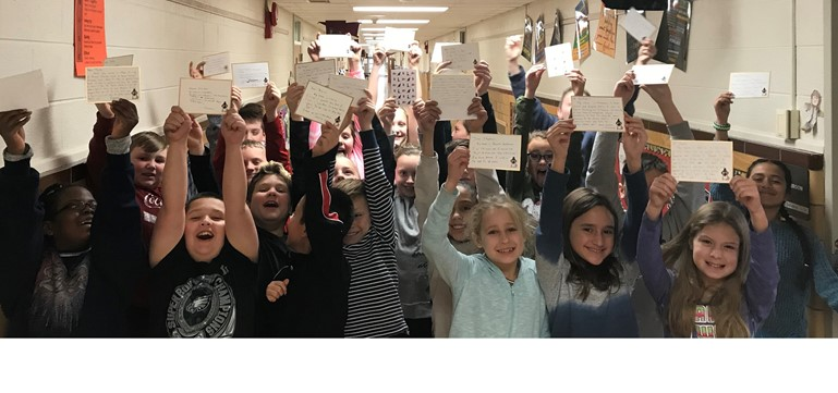 Oxford Valley Elementary fourth graders are thrilled to be pen pals with residents who live at the Arden Courts of Yardley senior home.