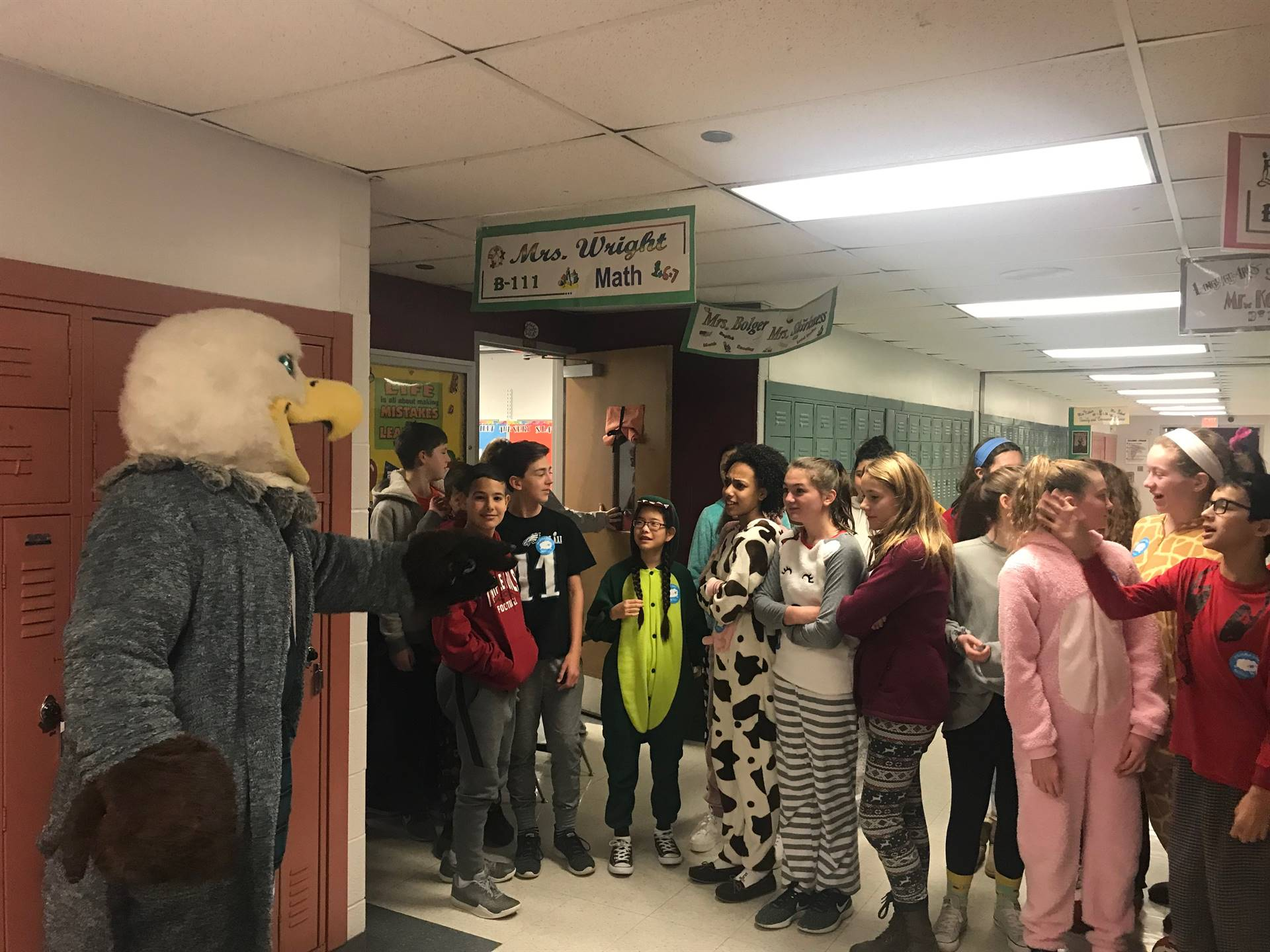 Swope Visits William Penn for CHOP Pajama Day