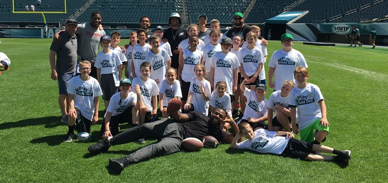 ER Children had a great time on their Play 60 trip with the Philadelphia Eagles!