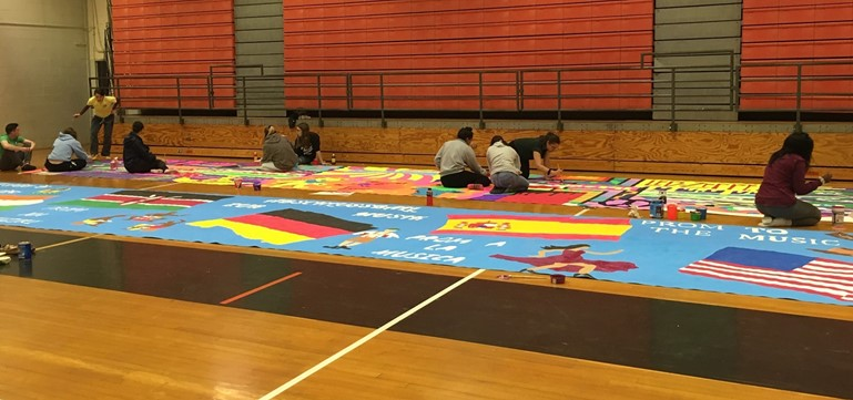 The 2019 Pennsbury High School Prom Committee students and volunteer parents are hard at work with Senior Prom preparations. Murals, 3D decorations, and many surprises are in store for the June 1st event at PHS East