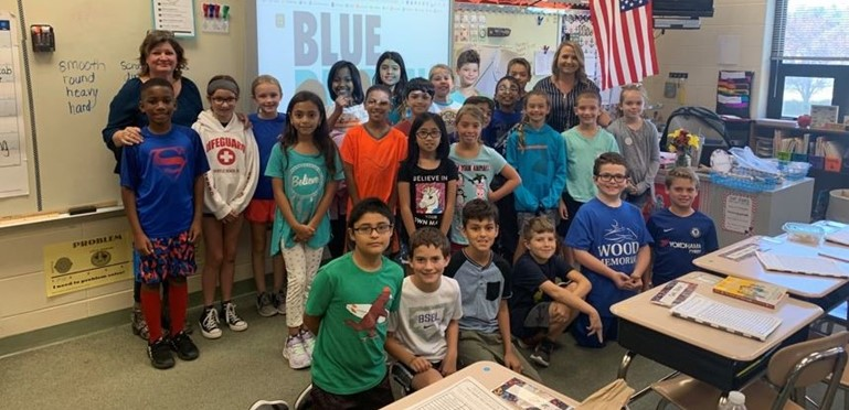 Ms. Mitchell's Class Celebrates becoming a National Blue Ribbon School