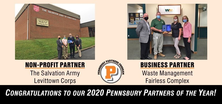 Pennsbury is celebrating its 2020 Partners of the Year - Salvation Army of Levittown and Waste Management Fairless Complex