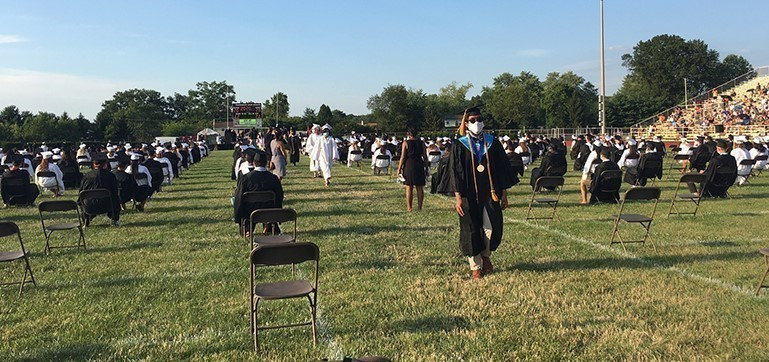 Following social distancing guidelines, Pennsbury High School held its 72nd annual Commencement ceremony over two nights for 780 seniors.