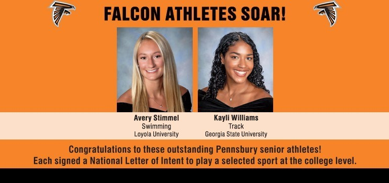 Two Pennsbury Seniors signed National Letters of Intent to play their selected sports at the collegiate level next year.